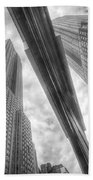 Empire State Reflection Beach Towel