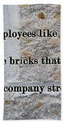 Employee Service Anniversary Thank You Card - Cement Wall Beach Towel