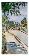 Empty Road Sketchbook Project Down My Street Beach Towel by Irina Sztukowski