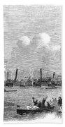 England: Boat Race, 1858 Beach Towel
