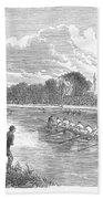 England: Boat Race, 1866 Beach Towel