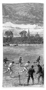 England: Foot Race, 1866 Beach Towel