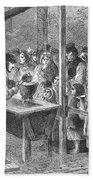 England: Soup Kitchen, 1862 Beach Towel
