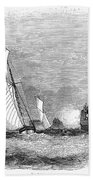 England: Yacht Race, 1843 Beach Towel