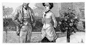 English Couple, 1883 Beach Towel