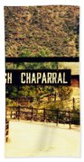 Entrance To The High Chaparral Ranch Beach Towel