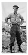 Ernie Pyle (1900-1945). American Journalist. Photograph, C1942 Beach Towel
