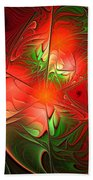 Eruption - Abstract Art Beach Towel