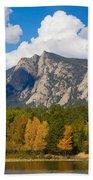 Estes Lake Autumn View  Beach Towel