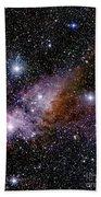 Eta Carinae Nebula, Infrared Image Beach Towel
