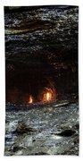 Eternal Flame Reflections Beach Towel