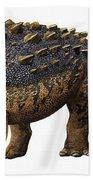 Euoplocephalus Tutus, A Prehistoric Era Beach Sheet