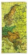 Europe Map Of 1911 Beach Towel