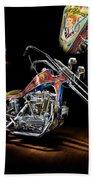 Evel Knievel Harley-davidson Chopper Beach Towel