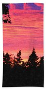 Evening In Paradise Painterly Style Beach Towel