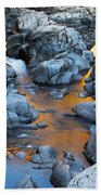 Evening Light On The Black River At Johnsons Shut Ins State Park IIi Beach Towel