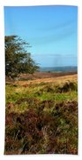 Exmoor's Heather-covered Hills Beach Towel