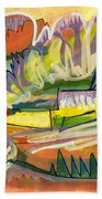 Exotic Places In My Mind Beach Towel