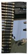 Expended Brass Falls From A Machine Gun Beach Towel