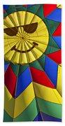 Face Inside Hot Air Balloon  Beach Towel