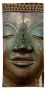 Face Of Bronze Buddha  Beach Towel