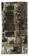 Faces Of Banyon Angkor Wat Cambodia Beach Towel