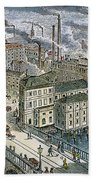Factories: England, 1879 Beach Towel