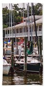 Fairhope Yacht Club Sailboat Masts Beach Towel