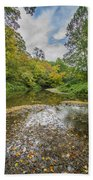Fall At The Low Stream Beach Towel