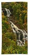 Fall At Whitewater Falls  Beach Towel