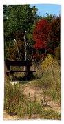 Fall Bench Dreams Beach Towel