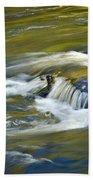 Fall Colors In River Rapids Beach Towel