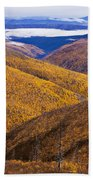 Fall Colours Along Top Of The World Beach Towel