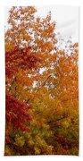 Fall Filled Sky Beach Towel