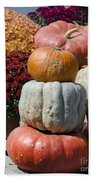 Fall Harvest Colorful Gourds 7968 Beach Towel