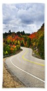 Fall Highway Beach Towel