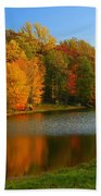 Fall In New York State Beach Towel
