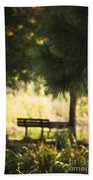 Fall In The Pines Beach Towel
