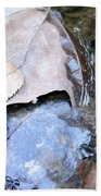 Fall Leaf Abstract Beach Towel