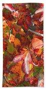 Fall Leaves - Digital Art Beach Towel