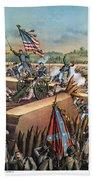 Fall Of Petersburg, 1865 Beach Sheet