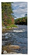 Fall On Swift River Beach Towel