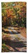 Fall On The Wyrick Trail Beach Towel