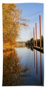 Fall Pier Beach Towel
