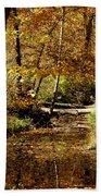 Fall River Colors Beach Towel