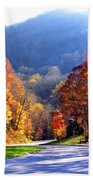 Fall Road 2 Beach Towel
