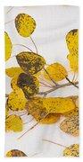 Fallen Autumn Aspen Leaves Beach Towel