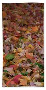 Falling Leaves Beach Towel