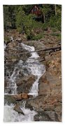 Falling Water Glen Alpine Falls Beach Towel