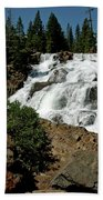 Falls In Site Glen Alpine Falls Beach Towel